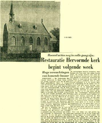 Restauratie Hervormde kerk begint volgende week