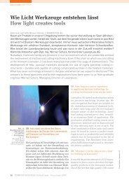 Wie Licht Werkzeuge entstehen lässt How light creates tools - bei ...