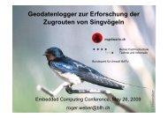 Geodatenlogger zur Erforschung der Zugrouten von Singvögeln