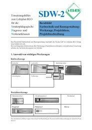 SDW 2 Berufsfeld Farbtechnik und Raumgestaltung - ISB
