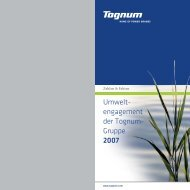 Umwelt- engagement der Tognum- Gruppe 2007
