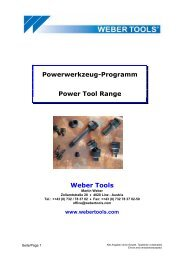 Powerwerkzeug-Programm Power Tool Range Weber Tools