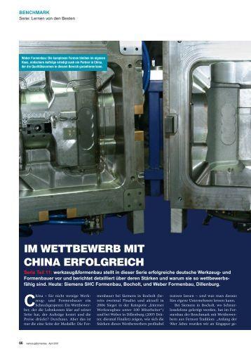 IM WETTBEWERB MIT CHINA ERFOLGREICH - Werkzeug und ...