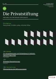 Privatstiftung - Nationales und Internationales Stiftungsrecht