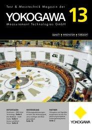 Test- und Messtechnik Magazin, Ausgabe 13 - Yokogawa
