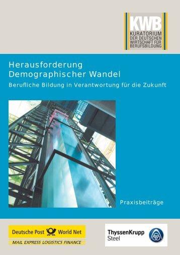 Herausforderung Demographischer Wandel - Kuratorium der ...