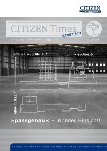 Zeit für Veränderungen! »passgenau« – in jeder ... - Citizen CNC