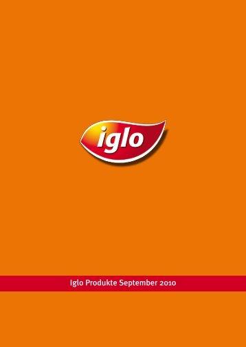 Iglo Produkte September 2010