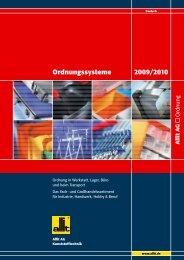 Ordnungssysteme 2009/2010 - Wachter Lagertechnik