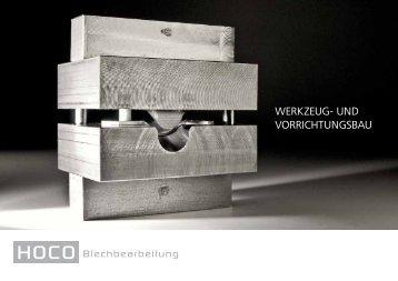 WERKZEUG- UND VORRICHTUNGSBAU - HOCO Blechbearbeitung