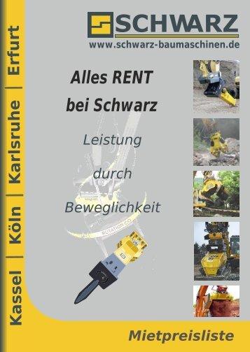 Mietpreisliste 2012 - SCHWARZ Baumaschinenteile, Zubehör und ...