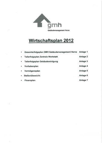 Wirtschaftsplan 2012 - Stadt Herne