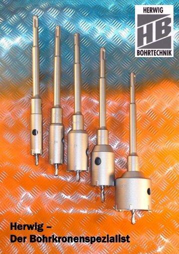 Bohrkronen / Core Drill Bit 1 - Herwig Bohrtechnik Schmalkalden ...