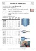 Bohrkronen / Core Drill Bit 1 - Herwig Bohrtechnik Schmalkalden ... - Seite 5