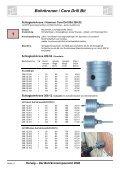 Bohrkronen / Core Drill Bit 1 - Herwig Bohrtechnik Schmalkalden ... - Seite 6