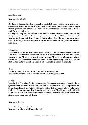 Kupfer - Monika Bremer-Nagel