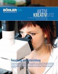 aktivkreativ 1/12 Unser Kundenmagazin - Gebr. Böhler & Co. AG