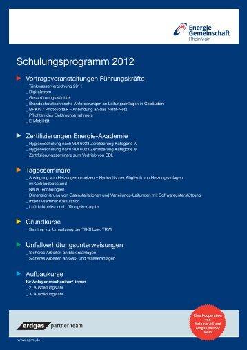 Schulungen 2012