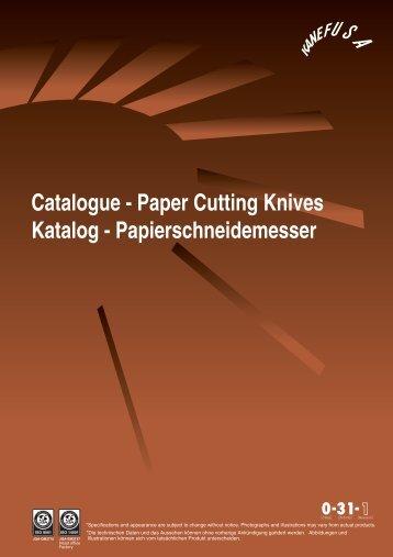 Catalogue - Paper Cutting Knives Katalog - Papierschneidemesser