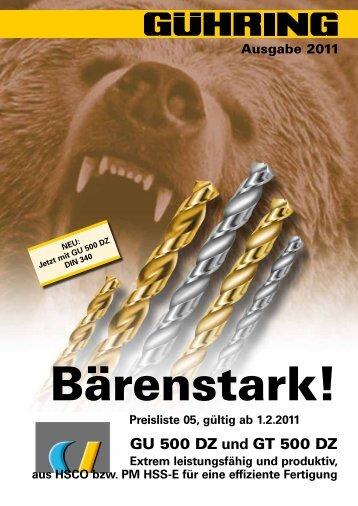 Preisliste 05, gültig ab 1.2.2011 - Gühring