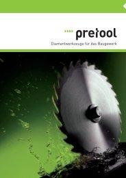 Diamantwerkzeuge für das Baugewerk - Pretool GmbH