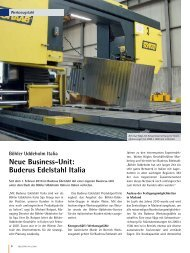 Neue Business-Unit: Buderus Edelstahl Italia