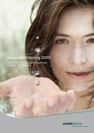 Umwelterklärung 2010 - voestalpine