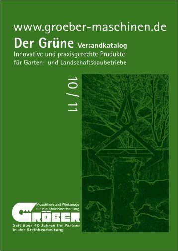 Aktionszeitraum 01.09. - 30.11.2010 - Gröber - Maschinen und ...