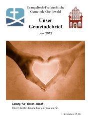 Unser Gemeindebrief - EFG Greifswald