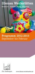 Programm 2012-2013 - Illenau-Werkstätten
