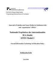 Nationale Ergebnisse der internationalen IEA-Studie SITES Modul 2