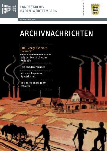 ARCHIVNACHRICHTEN - Landesarchiv Baden Württemberg