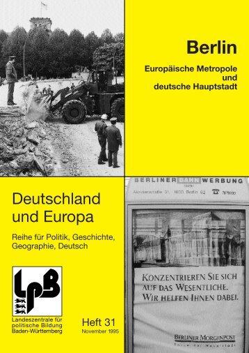 II. Berlin - Zeitschrift DEUTSCHLAND & EUROPA