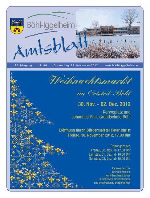 Amtsblatt vom 29.11.2012 - Gemeinde Böhl-Iggelheim