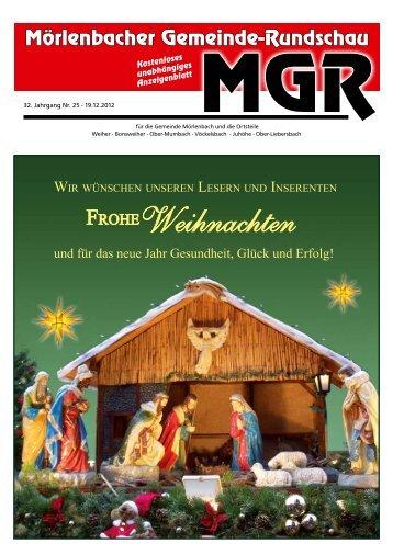 Aktuelle Ausgabe (25) als PDF zum lesen - Mörlenbacher ...