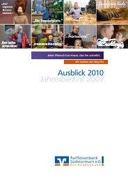 Jahresbericht 2009 - Raiffeisenbank Südstormarn Mölln eG