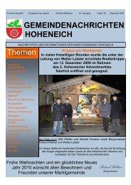 Zeitungsvorlage 4. Ausgabe 09.pub - Marktgemeinde Hoheneich