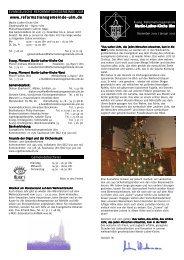 Festliche Bläsermusik zum Advent - Martin-Luther-Kirche