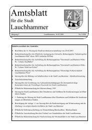 Bekanntmachung der Stadt Lauchhammer