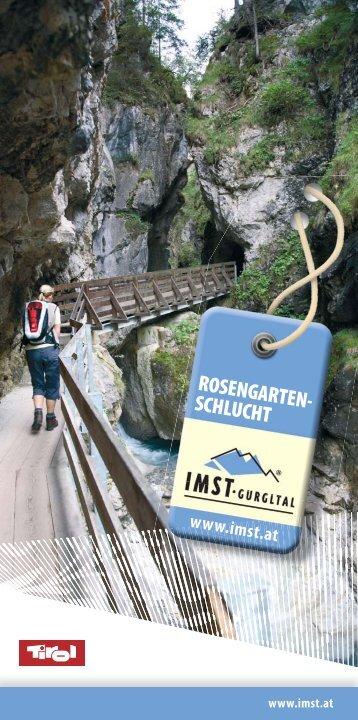 ROSENGARTEN- SCHLUCHT www.imst.at - Imster Bergbahnen