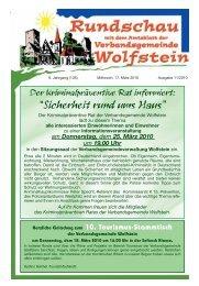 Stellenausschreibung - Verbandsgemeinde Wolfstein