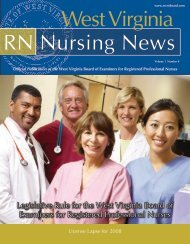 RN Nursing News - West Virginia Board of Examiners for Registered ...