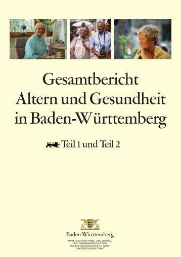 Gesamtbericht Altern und Gesundheit in Baden-Württemberg