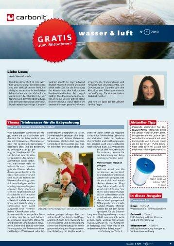 wasser & luft N° 2010 - carbonit Filtertechnik GmbH