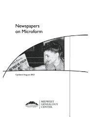 Newspapers on Microform