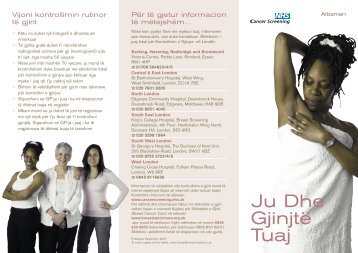 Breast Leaflet ALBANIAN:Layout 1 - The North London Breast ...