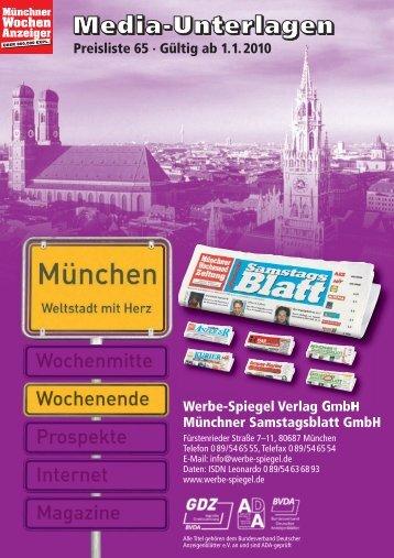 München Süd-West – 218.350 Expl. - Wochenanzeiger München
