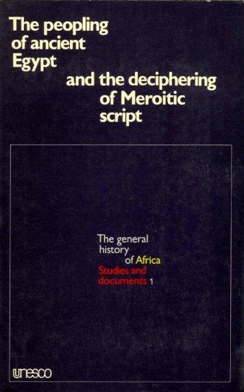 Symposium on the Peopling of Ancient Egypt ... - unesdoc - Unesco