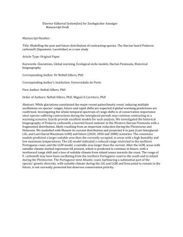Elsevier Editorial System(tm) for Zoologischer Anzeiger Manuscript ...