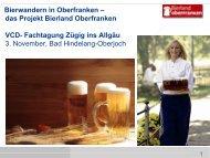 Bierwandern in Oberfranken - das Projekt Bierland ... - VCD Bayern